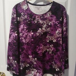 Petite Purple Floral Top